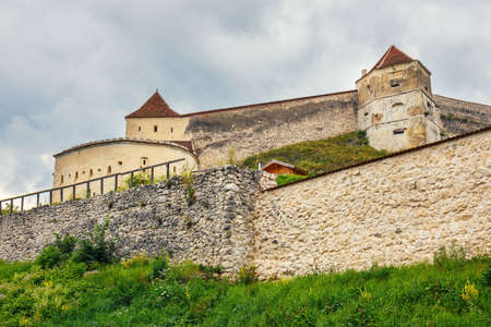 Medieval castle in Rasnov, Romania. Fortress was built between 1211 and 1225 Editorial