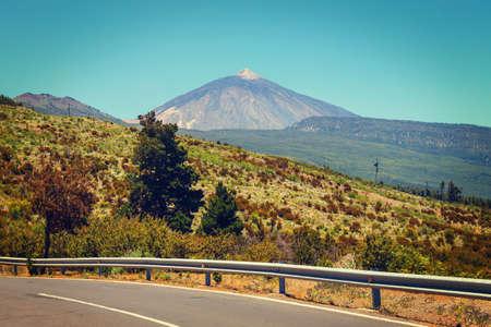 View of  El Teide Volcano in Tenerife, Canary Islands, Spain