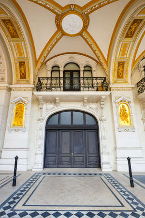 facade of austrian parliament building in Vienna, Austria Editorial