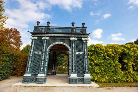 gloriette: Arbor in the garden, Schonbrunn Palace in Vienna, Austria Editorial