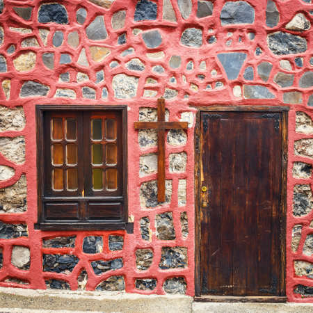 front doors: A photo of colourful front doors to house