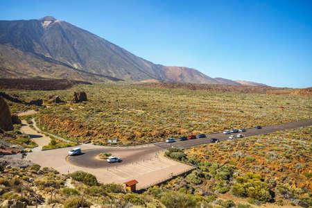 Roques de Garcia and El Teide Volcano, Tenerife Island, Spain
