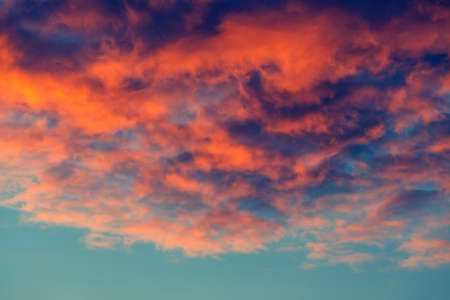 vintage look: Beautiful colors of the sunset, vintage look