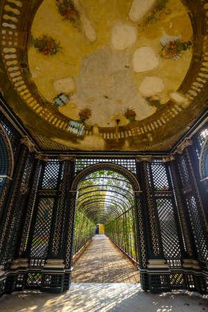 schoenbrunn: Vienna, Austria, October 14, 2016: Arbor in the garden, Schonbrunn Palace in Vienna, Austria