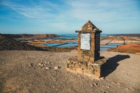 サリナス ・ デ ・ Janubio、ランサローテ島、スペインの島で岩塩坑 報道画像
