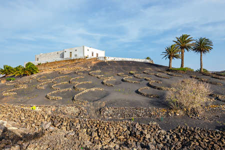 Volcanic landscape of Lanzarote, Canary Islands, Spain Stock Photo
