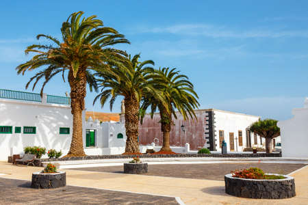 View of the city center of Teguise, former capital of the island of Lanzarote