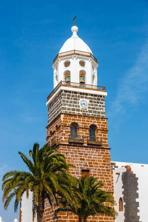 windows and doors: View of the city center of Teguise, former capital of the island of Lanzarote