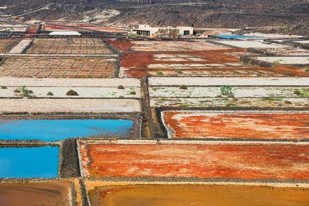 Salinas de Janubio, salt mine at the island of lanzarote, Spain