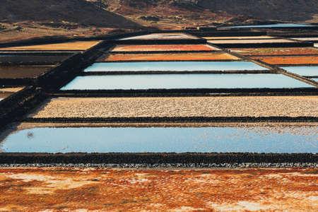 サリナス ・ デ ・ Janubio、ランサローテ島、スペインの島で岩塩坑 写真素材 - 78242652