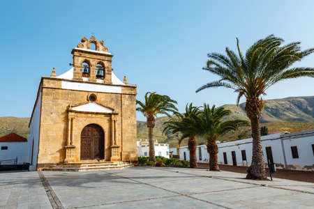 Church of Nuestra Senora de la Pena near Betancuria, Ermita de la Virgen de la Pena, Fuerteventura, Spain Stock Photo