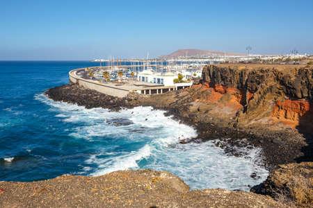 playa blanca: Marina in Playa Blanca, Lanzarote, Canary Islands, Spain