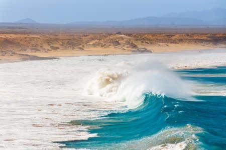 Beach in El Cotillo village in Fuerteventura island, Spain