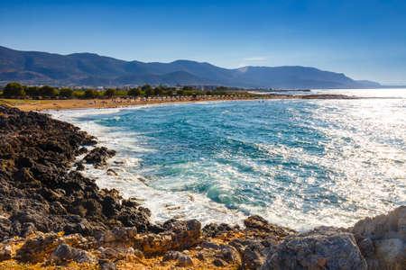 晴れた日、マリア、クレタ島で美しいギリシャ シースケープ