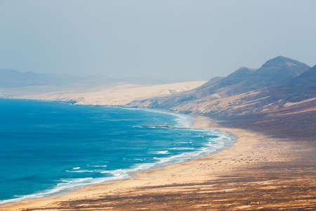 Fuerteventura 섬, 스페인에서 Cofete 해변의보기