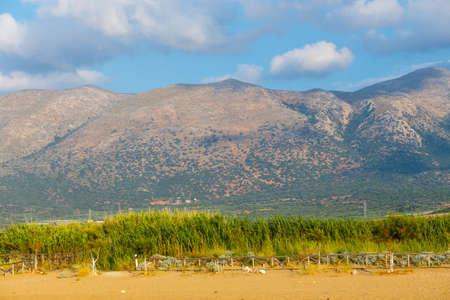 Beautiful mountain landscape of Crete near Malia, Greece