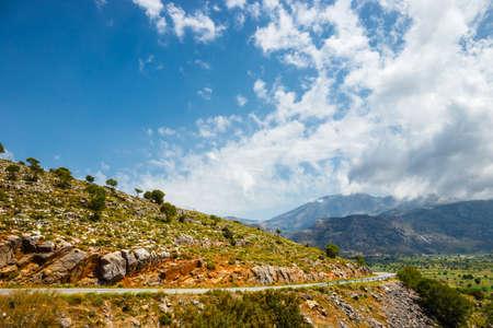 plateau: View of Lasithi Plateau on Crete island, Greece Stock Photo