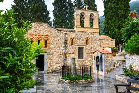 Ancient Monastery Kera Kardiotissa on Crete. Greece Stock Photo