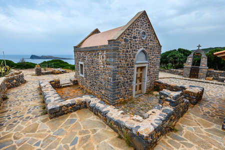 Christian Basilica Poros Elounda on Kalydon Peninsula, Crete, Greece