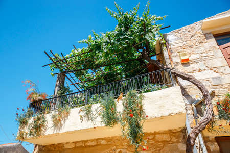 Traditional creten village Margarites famous for handmade ceramics, Crete, Greece Stock Photo