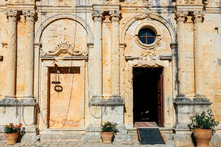 View on the Basilica of Arkadi Monastery on Crete, Greece