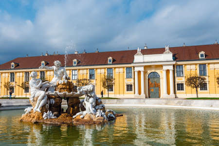 Vienna, Austria, October 14, 2016: Schonbrunn Palace in Vienna. Baroque palace is former imperial summer residence located in Vienna, Austria Editorial