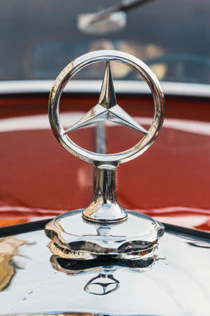 KRAKOW, POLAND - MAY 15, 2015: Classic Mercedes on the rally of vintage cars in Krakow, Poland Editorial