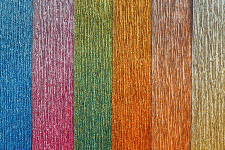 close up of color corrugated paper background