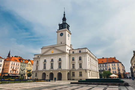 Main square in Kalisz, one of the oldest city in Poland Stock Photo