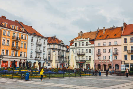 May 25, 2015: Main square in Kalisz, one of the oldest city in Poland Editorial