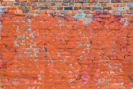 red brick wall texture use as  background