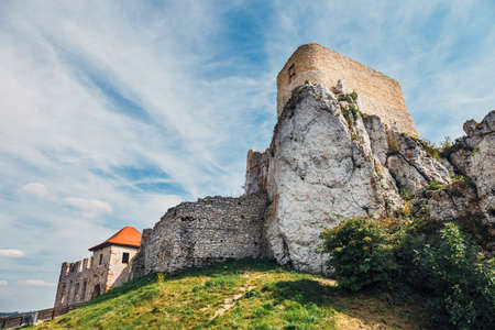 ruins of Rabsztyn castle near Krakow, Poland