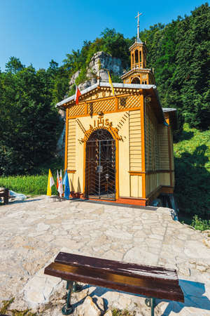 Chapel on the water in Ojcow National Park near Krakow, Poland Stock Photo
