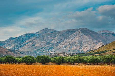 Beautiful mountain landscape of Crete Island, Greece