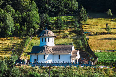 Small orthodox church in the mountains, Transylvania, Romania