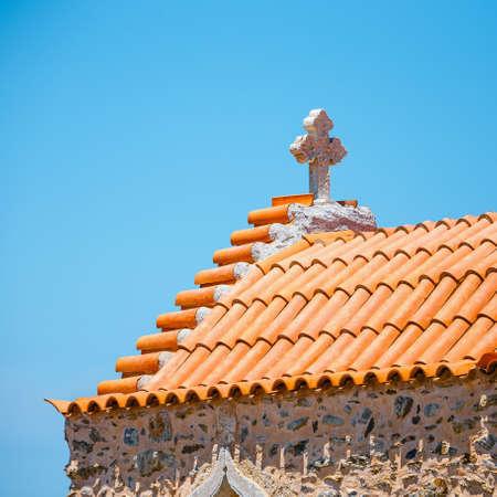 Monastery of Toplou near Vai beach, Crete island in Greece