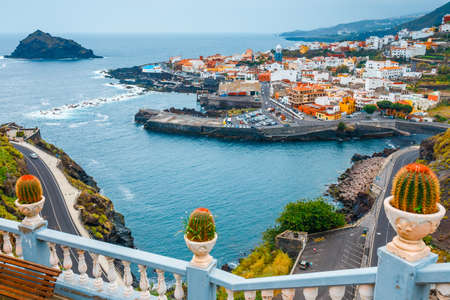 Aerial view of Garachico in Tenerife, Canary Islands, Spain 스톡 콘텐츠