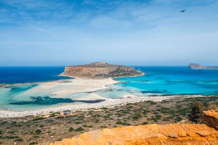 amazing scenery of Balos Beach in Crete Island, Greece