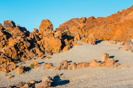 Sunrise in the caldera of El Teide volcano, Tenerife, Canary Islands Stock Photo