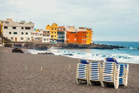 Colour houses of Punta Brava in Puerto de la Cruz, Tenerife Island, Spain