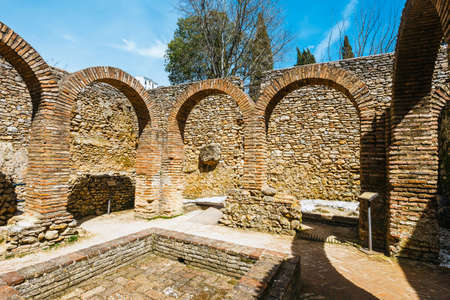 The ruins of the Arab baths in town of Ronda, Andalusia, Spain