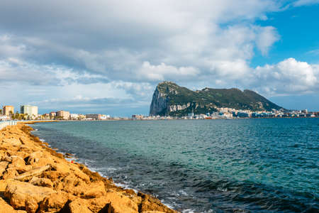 Rock of Gibraltar on a sunny day