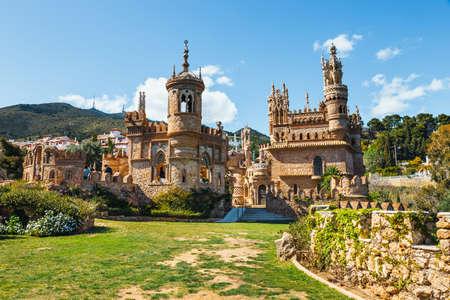 Benalmadena, Spain, April 08, 2018: Colomares castle in Benalmadena, dedicated of Christopher Columbus, Spain