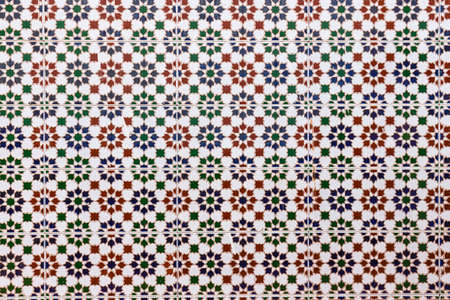 traditional ceramic tiles on the wall in the street, Spain 스톡 콘텐츠