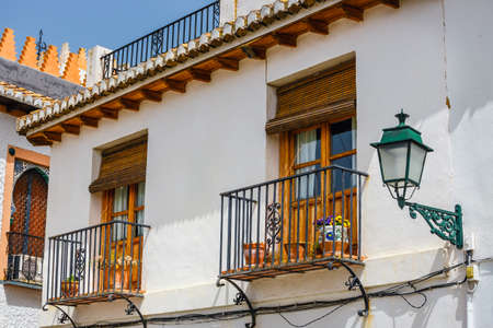 Architectural details in the historic district of Albaicin in Granada, Andalusia, Spain.