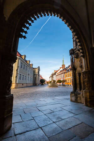 view of cathedral of saint john the baptist in Wroclaw, Poland