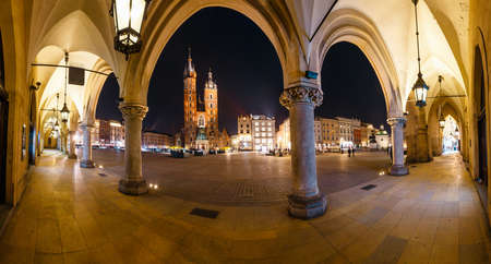 Night view of Main Market Square in Krakow. Krakow is one of the most beautiful city in Poland