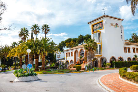 La cala de Mijas, Spain, April 02, 2018: Hotel district in La Cala de Mijas, Spain, Costa del sol Zdjęcie Seryjne - 128080729