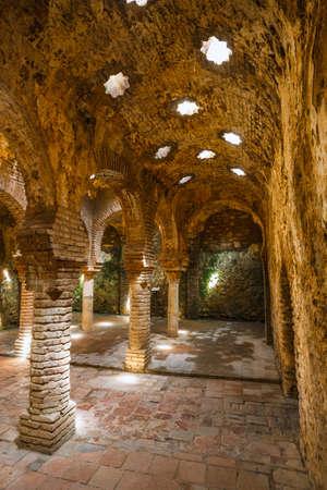 Ronda, Spain, April 05, 2018: The ruins of the Arab baths in town of Ronda, Andalusia, Spain Zdjęcie Seryjne - 128137665