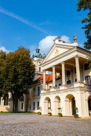 KOZLOWKA, POLAND, August 31, 2018: Zamoyski Palace in Kozlowka. It is a large rococo and neoclassical palace complex located in Kozlowka near Lublin in eastern Poland Zdjęcie Seryjne - 128137668